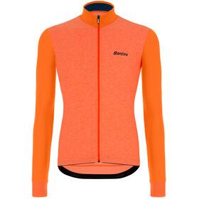 Santini Colore Puro Maglia jersey a maniche lunghe Uomo, arancione
